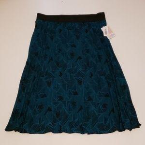 LuLaRoe Jill Pleated Skirt 2XL Teal NWT